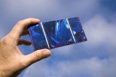 Célula solar Fotos de archivo