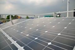 A célula solar e o medidor Imagem de Stock Royalty Free