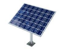 Célula solar isolada no fundo branco Foto de Stock