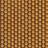 Células anaranjadas. Fondo del metal. Fotografía de archivo libre de regalías