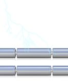 Células de bateria com e sem ilustração royalty free