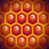 Células de la miel de la abeja. Fondo 1. ilustración del vector