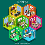 Células del negocio 01 isométricas stock de ilustración