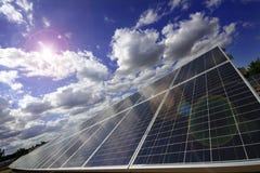 Células fotovoltaicas Imagenes de archivo