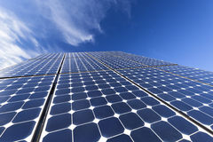 Células fotovoltaicas solares Imagenes de archivo
