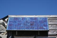 Células solares Foto de archivo libre de regalías