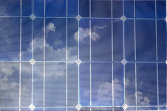 Células solares Fotografia de Stock