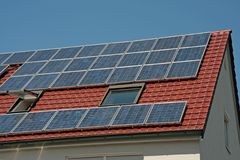 Células solares Foto de archivo
