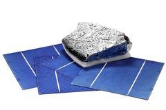 Células solares Fotografía de archivo libre de regalías