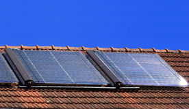 Células solares Fotografia de Stock Royalty Free