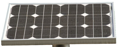 Células solares com doze elementos foto de stock