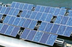 Células solares de la energía renovable Imágenes de archivo libres de regalías