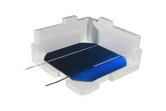 Células solares em uma caixa fotos de stock royalty free
