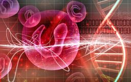 Células y DNA Imagen de archivo libre de regalías