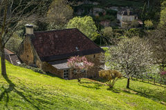 Cénac , french village in valley of Dordogne Royalty Free Stock Photos