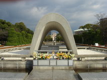 Cénotaphe à Hiroshima Photographie stock