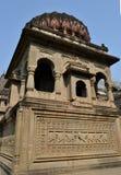 Cénotaphe de Holkar à l'intérieur de fort de Maheshwar Image libre de droits