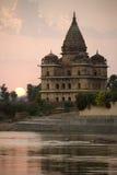 Cénotaphes d'Orchha - de Bundela - l'Inde Photographie stock