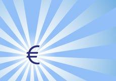 Céntrese en dólar euro con el fondo de Sunwave Imagen de archivo libre de regalías