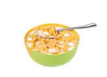 Céréale avec du lait Photo libre de droits