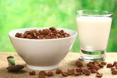 Céréale d'éclaille de blé de chocolat image stock