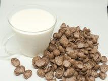 Céréale de petit déjeuner de chocolat Image stock