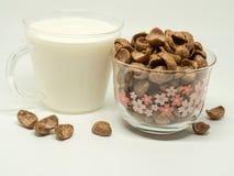 Céréale de petit déjeuner de chocolat images stock