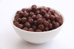Céréale de souffle de chocolat Photographie stock
