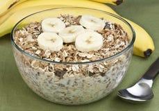 Céréale et banane Photo libre de droits
