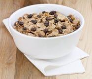 Céréale et raisins secs Photo stock
