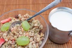 Céréales avec du lait Photo libre de droits