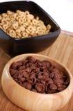 Céréales avec du miel et avec du cacao Photographie stock