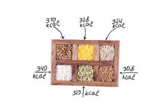 Céréales de calorie image libre de droits