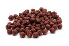 Céréales de chocolat Images stock