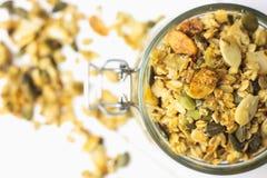 Céréales de petit déjeuner cuites au four Photographie stock