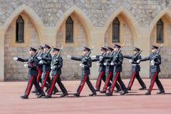 Cérémonie changeante de garde en Windsor Castle, Angleterre Image libre de droits