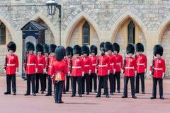 Cérémonie changeante de garde en Windsor Castle, Angleterre Photo libre de droits
