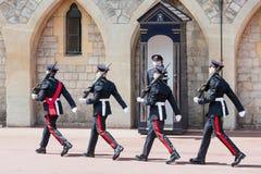 Cérémonie changeante de garde en Windsor Castle, Angleterre Images stock
