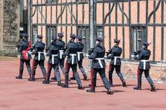 Cérémonie changeante de garde en Windsor Castle, Angleterre Photographie stock
