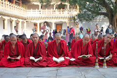 Cérémonie chez le Punakha Dzong, Punakha, Bhutan Image stock