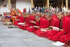 Cérémonie chez le Punakha Dzong, Punakha, Bhutan Photos libres de droits