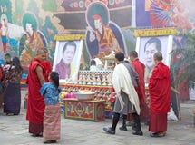 Cérémonie chez le Punakha Dzong, Punakha, Bhutan Images stock