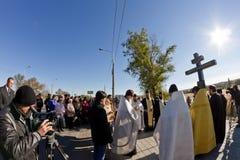 Cérémonie commémorative pour des victimes de l'attaque terroriste en octobre photo libre de droits