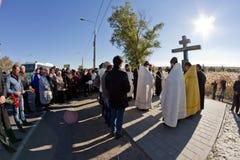 Cérémonie commémorative pour des victimes de l'attaque terroriste en octobre image stock