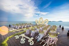 Cérémonie d'arrangement de mariage de Luxry Image libre de droits