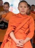 Cérémonie d'aumône de moines, Thaïlande photographie stock libre de droits