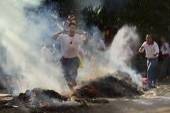 Cérémonie d'incendie dans Taiwan Photo libre de droits