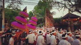 Cérémonie d'Odalan, Ubud, Bali, Indonésie photographie stock libre de droits