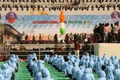 Cérémonie d'Opning au 29ème festival international 2018 de cerf-volant - Inde Images libres de droits