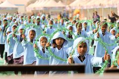 Cérémonie d'Opning au 29ème festival international 2018 de cerf-volant - Inde Photos libres de droits
